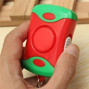 אזעקה מחזיק מפתחות כפתור סוללות חירום לוקו0ט