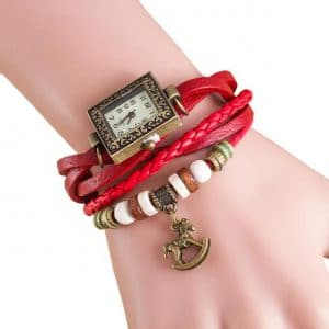 שעון צמיד - עדין ורוחני - אדום