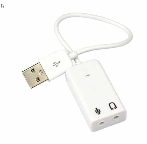 מעביר USB - ליציאת אוזניות ומקרופון