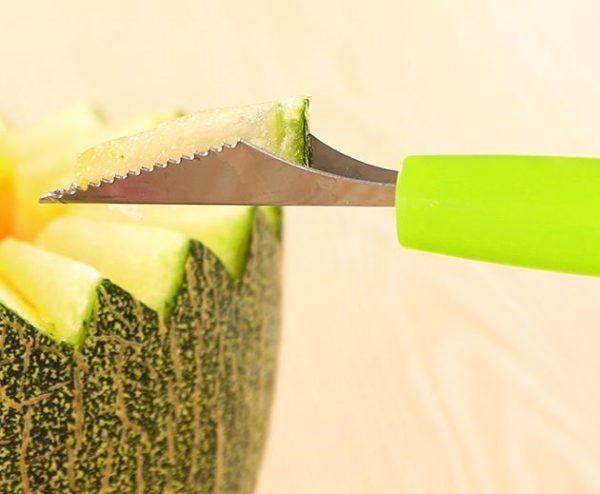 סכין לעיצוב - פירות וירקות - כף לגלידה