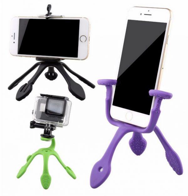 חצובה קטנה - לסמארטפון - למצלמת אקסטרים - עם מגוון אפשרויות