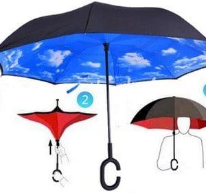 מטריה בשלל צבעים – מתקפלת הפוך – עם תופסן