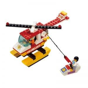 צעצוע לגו - מסוק אמבולנס - כולל אופנוע ים - 107 חלקים