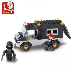 צעצוע לגו -מכונית משטרה - עם שוטרים - 127 חלקים lowc0st.co.il לוקו0ט lowc0st
