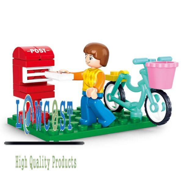 נער אופניים - לגו - שולח מכתב