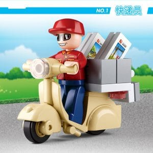 צעצוע לגו - שליח על אופנוע - 28 חלקים