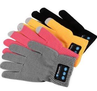 גאדג'טים מגניבים - כפפות בלוטוס - משולבות כפפות טאץ לסמארטפון - מגוון צבעים