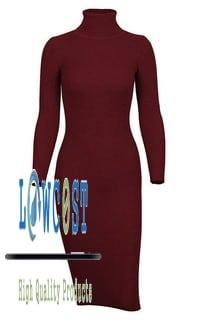 שמלת נשים סתיו חורף - שרוול ארוך - ארבע צבעים