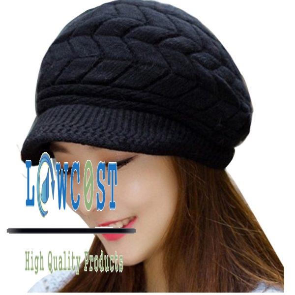 כובע נשים אופנתי חורפי - סרוג - מגוון צבעים