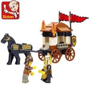 צעצוע לגו - שני אבירים - עם כרכרה - 74 חלקים