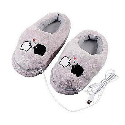 """נעלי פיגי - מחוממות ע""""י USB - להיט לחורף"""
