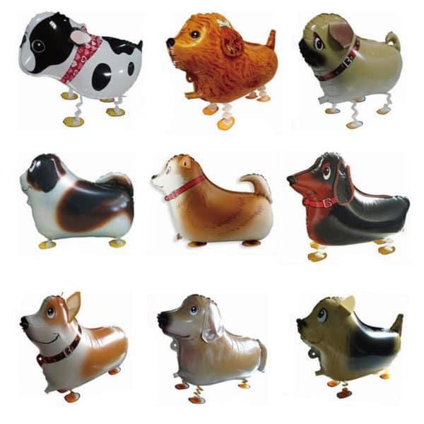 5 יחידות בלונים - הליום או אוויר - בצורת כלבים - מתנה לילדים