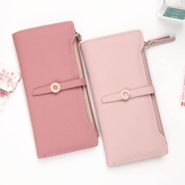 הארנק לנשים אופנתי - עשוי מעור איכותי - עם תאים רחבים