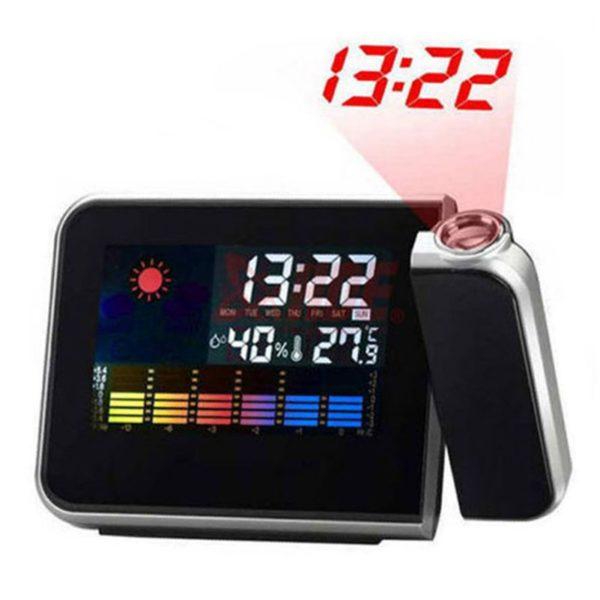 שעון מעורר עם נודניק - מקרן לד לשעה לתצוגה נוחה - עם מגוון פונקציות