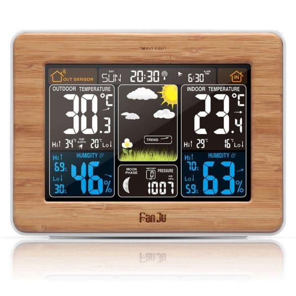 שעון מעורר רב תכליתי - תחנת מזג אויר - מד טמפרטורה ומד לחות