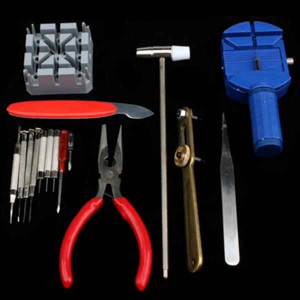 כלי עבודה לתיקון שעונים - החלפת רצועות / סוללה - 16 חלקים