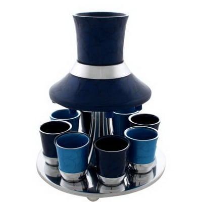 כוס קידוש מהודר - מחלק יין לששה כוסות - עיצוב מדהים לשולחן -מתנה מפוארת