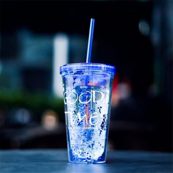 בקבוק קיצי למים עם קשית - לוקו0ט