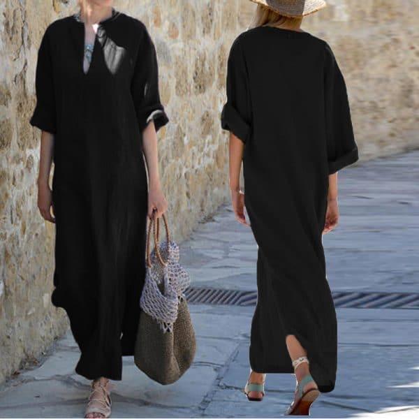 גלביה לנשים שמלה צנועה לאשה – קיץ – חוף הים, בריכה – צנועות - לוקו0ט