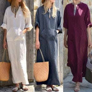 גלביה לנשים שמלה צנועה לאשה – קיץ – חוף הים, בריכה – לוקו0ט