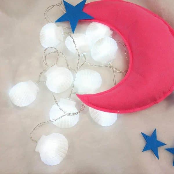 צדפות וקונכיות - שרשרת לדים - יום הולדת עיצוב קישוט מסיבה - לקניה לוקו0ט