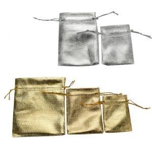 שקיות הפתעה בד כסף זהב לוקו0ט רוית מרציאנו