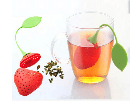 מסנן עלי תה – עשוי סיליקון עם אפשרות לשליפה בטוחה – ב-6 צורות