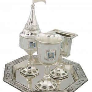 קופסה מצות לשולחן מלחיה כוס קידוש לקניה במבצע לוקו0ט לחג צבעוני מעוצב יוקרתי מהודר מתנה