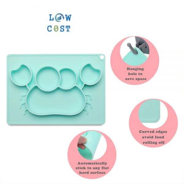 צלחת פלסטיק חזקה צבעונית מתנות לתינוקות לאימהות יולדות להזמנה לוקו0ט במבצע
