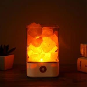 מנורת מלח אבן גוש מינרל תאורה אסתמה בריאות קוצר נשימה חשמלית להזמנה לוקו0ט במבצע
