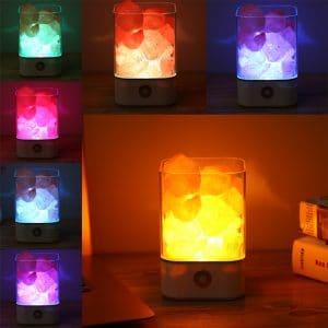מנורת מלח אבן גוש מינרל תאורה חשמל חדר מלח להקלה על נשימה בריאה אסטמה לוקו0ט לקניה בזול