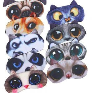 כיסויי עיניים מעוצבים צבעוניים מכסה להקלה על שינה הירדמות להזמנה לוקו0ט במבצע