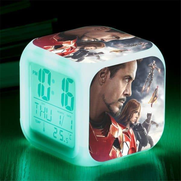 שעון קוביה לד-באטמן ספיידרמן איירון מן הנוקמים האלק-להזמנה לוקו0ט