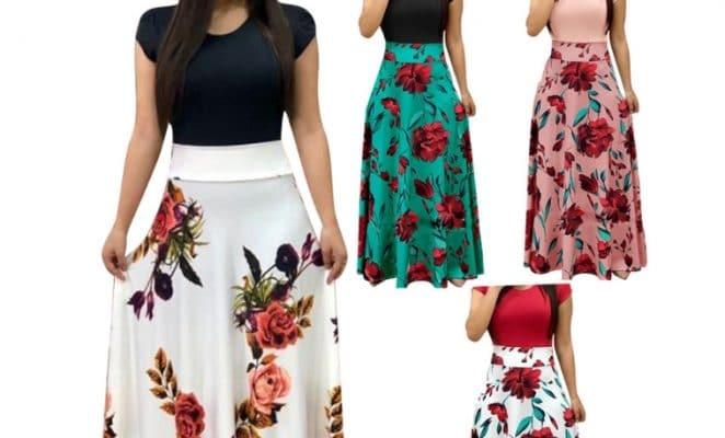 שמלות מקסי 2XL 3XL 4XL פסים רטרו וינטאג נשים נערות להזמנה לוקו0ט